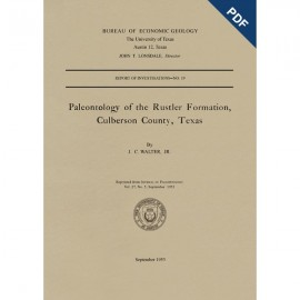 RI0019D. Paleontology of the Rustler Formation, Culberson County, Texas