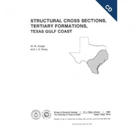 CS0002CD. Structural Cross Sections, Tertiary Formations, Texas Gulf Coast - CD