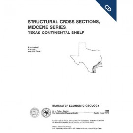 CS0005CD. Structural Cross Sections, Miocene Series, Texas Continental Shelf - CD
