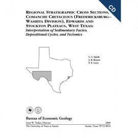 CS0011CD. Regional Stratigraphic Cross Sections, Comanche Cretaceous...West Texas - CD