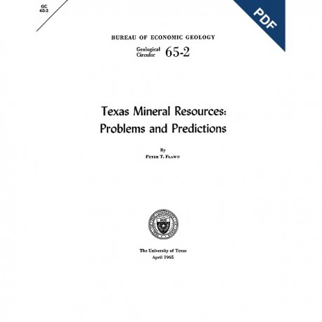 GC6502D. Texas Mineral Resources: Problems and Predictions - Downloadable PDF