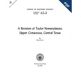 GC6503D. A Revision of Taylor Nomenclature: Upper Cretaceous, Central Texas  - Downloadable PDF