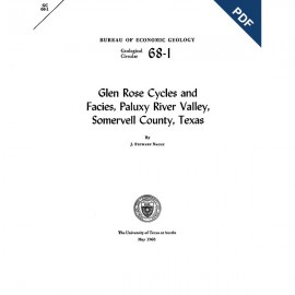 GC6801D. Glen Rose Cycles and Facies, Paluxy River Valley, Somervell County, Texas  - Downloadable PDF