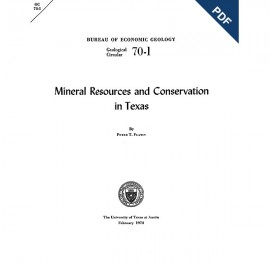 GC7001D. Mineral Resources and Conservation in Texas  - Downloadable PDF
