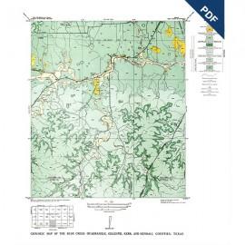 GQ0012D. Bear Creek quadrangle, Texas