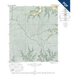 GQ0018D. Klein Branch quadrangle, Texas