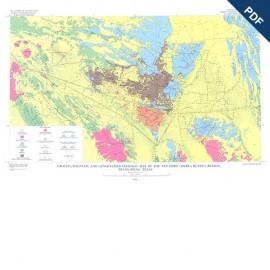 GQ0040D. Gravity, magnetic, and generalized geologic map of the Van Horn-Sierra Blanca Region, Trans-Pecos Texas