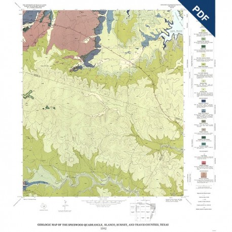GQ0050D. Geology of the Spicewood quadrangle, Blanco, Burnet, and Travis Counties, Texas