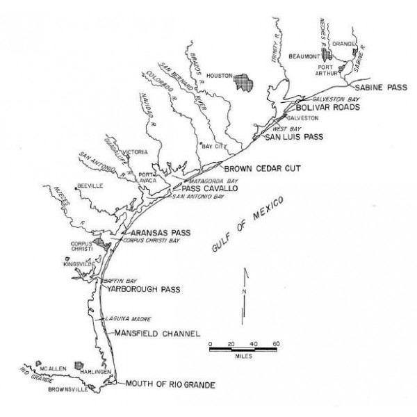 GC7502  Shoreline Changes on Brazos Island and South Padre Island  (Mansfield Channel to Mouth of the Rio Grande), An Analysis of