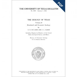BL3401D. The Geology of Texas, v. II, Structural and Economic Geology