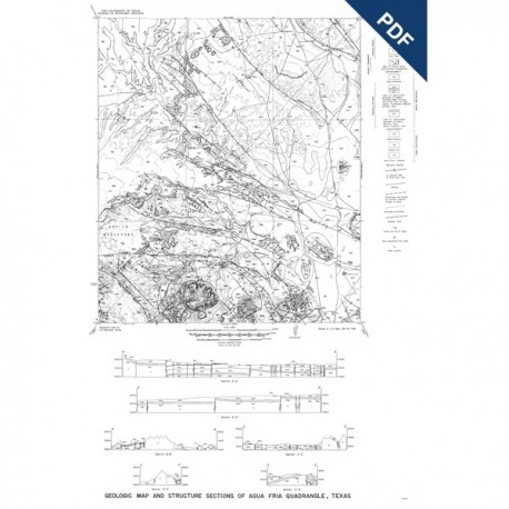 MM0001D. Agua Fria Quadrangle, Brewster County - Downloadable PDF