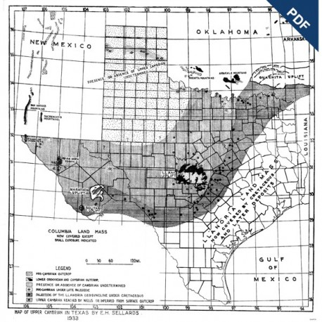 MM0002D. Cambrian, Devonian, Upper, Middle, and Lower Ordovician, and Silurian Formations in Texas