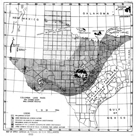 MM0002. Cambrian, Devonian, Upper, Middle, and Lower Ordovician, and Silurian Formations in Texas