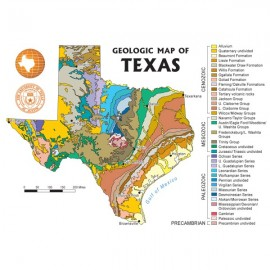 MM0015. Geologic Map of Texas - Postcard