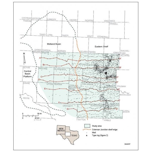 Ut Permian Basin >> RI0282. Upper Pennsylvanian and Lower Permian Shelf-to-Basin Facies...Eastern Shelf of the ...