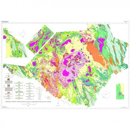 MM0034 Big Bend National Park Geologic Map The Bureau Store