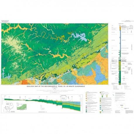 MM0039. Geologic Map of the New Braunfels, Texas, 30 x 60 Minute Quadrangle