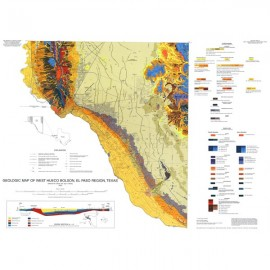 MM0040. Geologic Map of West Hueco Bolson, El Paso Region, Texas