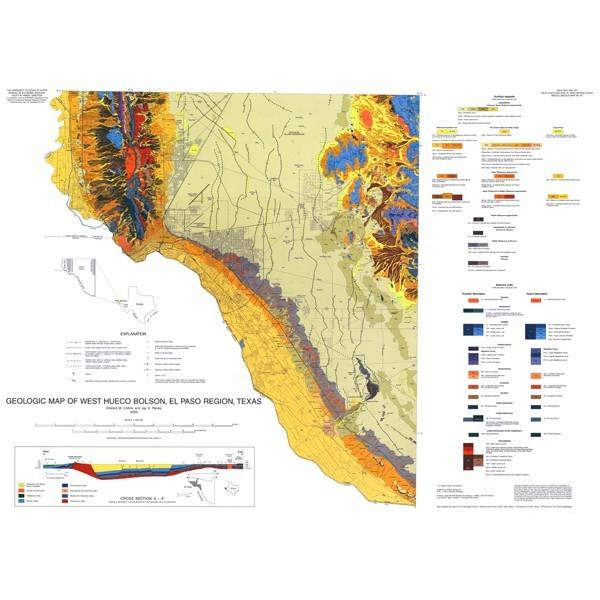 Mm0040 Geologic Map Of West Hueco Bolson El Paso Region Texas