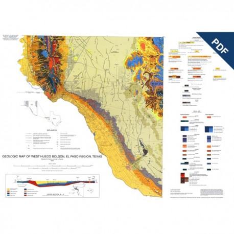 MM0040D. Geologic Map of West Hueco Bolson, El Paso Region, Texas - Downloadable PDF