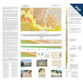 MM0047D. Geologic Map of the Southeast Part of the Austin, Texas, 30 x 60 Minute Quadrangle...Downloadable PDF