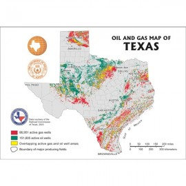 MM0044. Oil and Gas Map of Texas - Postcard