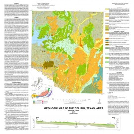 MM0045. Geologic Map of the Del Rio, Texas, Area