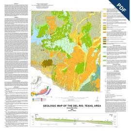 MM0045D. Geologic Map of the Del Rio, Texas, Area - Downloadable PDF