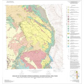 MM0050. Geologic Maps of the Upper Cretaceous and Tertiary Strata, Big Bend National Park
