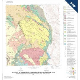 MM0050D. Geologic Maps of the Upper Cretaceous and Tertiary Strata, Big Bend National Park - Downloadable PDF