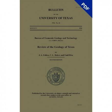 BL0044D. Review of the Geology of Texas - Downloadable PDF
