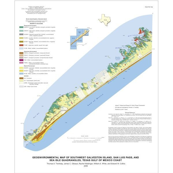 OFM0174. Southwest Galveston Island...Sea Isle and San Luis P Quadrangle, on