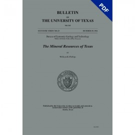 BL0365. (Scientific Series 29) The Mineral Resources of Texas