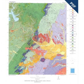 RX0001D. Color map, Plate VII of RI 86, Environmental Geology of the Austin Area-Downloadable