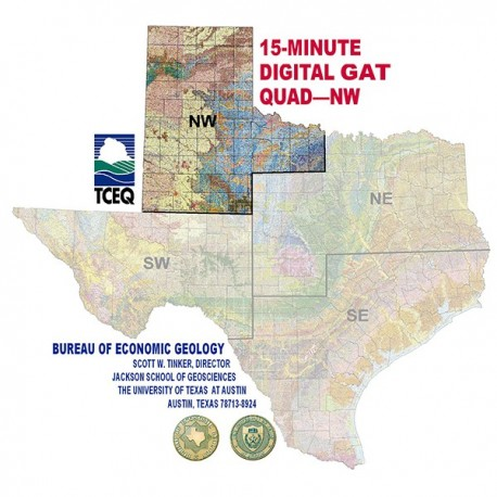 Map Of Northwest Texas.Dqnw Digital Gis Quadrangle Northwest Texas The Bureau Store