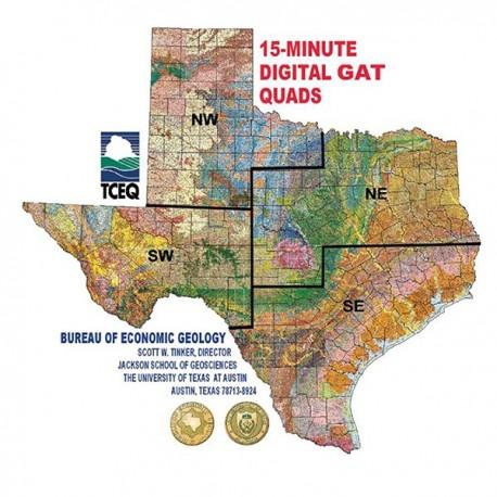 DQALL4. Digital GIS Quadrangles - Texas - 4 CD Set