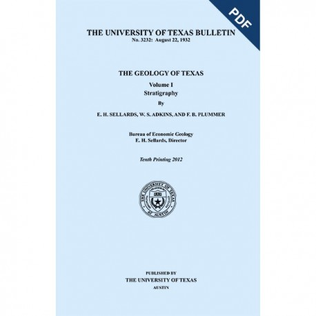 BL3232D. The Geology of Texas, v. I, Stratigraphy Book and Map