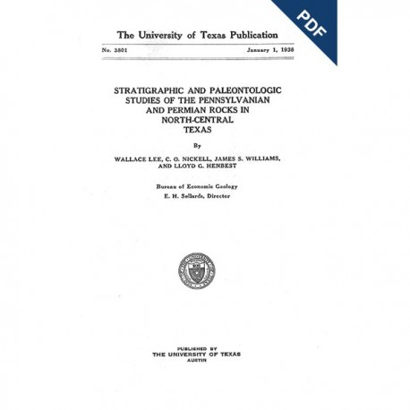 BL3801D. Stratigraphic and Paleontologic Studies of the Pennsylvanian and Permian Rocks in North-Central Texas