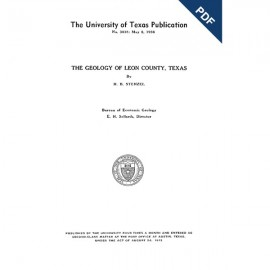 BL3818D. The Geology of Leon County, Texas