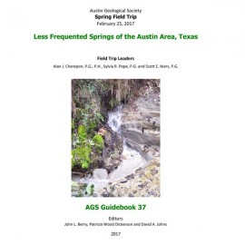 AGS GB 37. Less Frequented Springs of the Austin Area, Texas