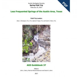 AGS GB 37D. Less Frequented Springs of the Austin Area, Texas - Downloadable PDF