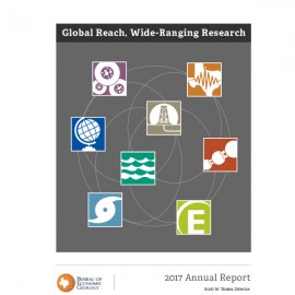 AR2017. Annual Report 2017: Global Reach, Wide-Ranging Research. Book format.