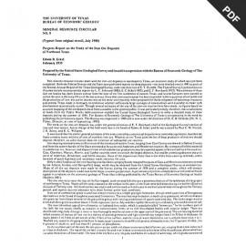 MC0008. Progress Report on the Study of the Iron Ore Deposits of Northeast Texas