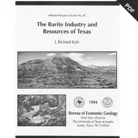 MC0085. The Barite Industry and Resources of Texas