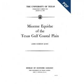 PB5516. Miocene Equidae of the Texas Gulf Coastal Plain