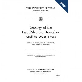 PB5607. Geology of the Late Paleozoic Horseshoe Atoll in West Texas