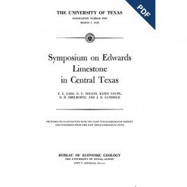 PB5905D. Symposium on Edwards Limestone in Central Texas:...Downloadable