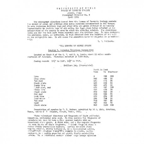 WR0003. Well Records of Kimble County [Texas]
