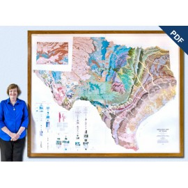 SM0003D. Geologic Map of Texas (4 sheets)