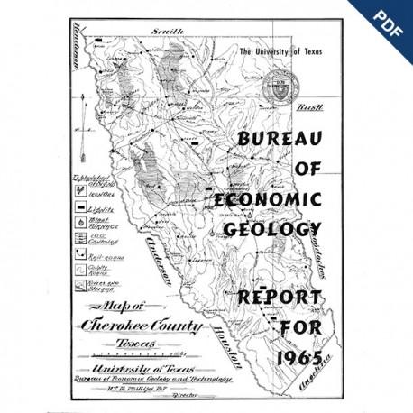 AR1965D. Bureau of Economic Geology Report for 1965 - Downloadable PDF.